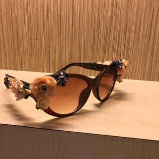 Loly Poly Sunglasses Flower Floral Kaca Mata Hitam