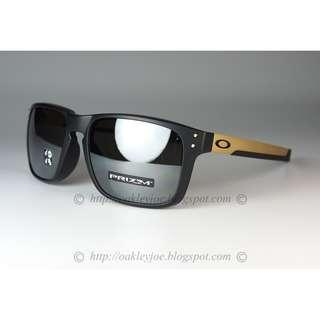 bcdaafce72 Oakley Mix Holbrook Asian Fit matte black gold + prizm black polarized  oo9385-0757 sunglass