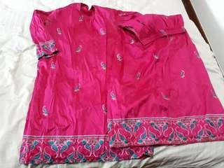 (Free NM) Pre❤ Pink Baju Kurung Size M