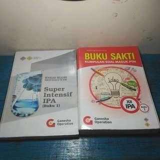 Buku Sakti Kumpulan Bank Soal IPA Saintek SBMPTN Super Intensif Materi Ganesha Operation GO 2019