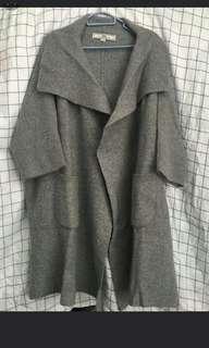 initial knit jacket 羊毛外套