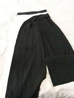 (Free NM) Pre❤ Ladies Long Pants with Skirt Sash Size S