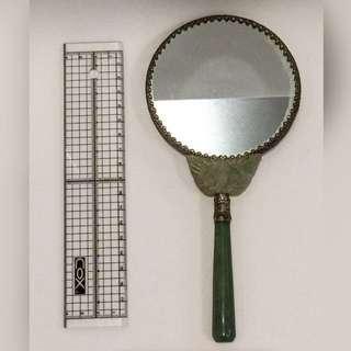 手持仕女化妝鏡(玉石把柄)