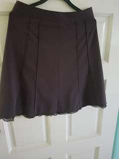 BROWN FORMAL WORKING SKIRT