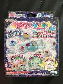 Kids- Sega Toys Kira Deco Art Puni Gel 2 Color Set (Green & Silver)
