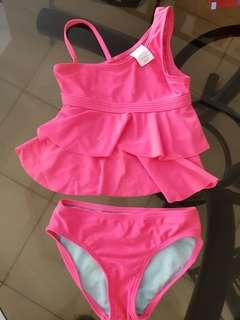 PRELOVED HOT PINK VENUS CUT 2P SWIMSUIT