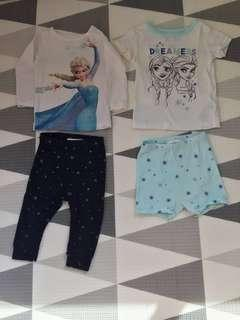 🚚 PL Authentic Baby Gap Disney Elsa / Frozen top with matching bottom