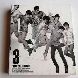 Super Junior 3rd Album Sorry Sorry