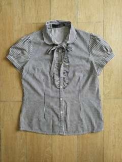Emilio Valentino Bow Shirt