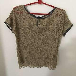 Pull and bear Lace Shirt Size S