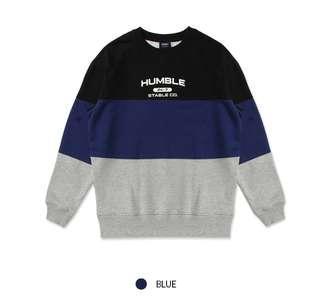 Korea SPAO Sweatshirt (Blue/Purple) SPMW849C06 NWT