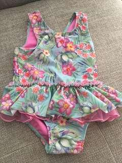 Pre Owned pumpkin patch floral tutu swim 2