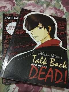 Wattpad books (Talk Back and You're Dead 1 and 2)