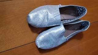 Shimmer silver Toms shoes