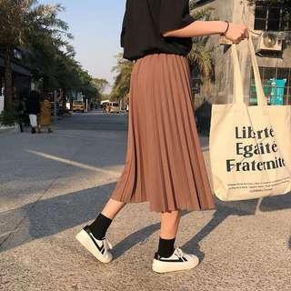 🚚 復古氣質百摺裙
