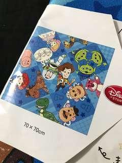 日本迪士尼反斗奇兵絹布70 x 70cm Toystory 勞蘇