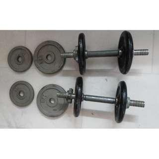 18kg dumbbell dumbell barbell with weights