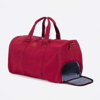Herschel Unisex Novel Duffle Bag Brick Red with Shoe Compartment