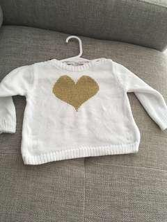 Bella & Lace Heart Jumper size 1