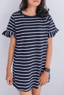 Dress Striped Wanita