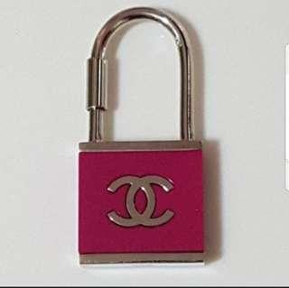 Chanel Pendant / Keychain / Bag Charm in Hot Pink