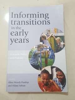 informing transition in the early years