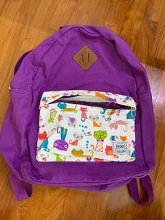 Functional Purple Cat Backpack