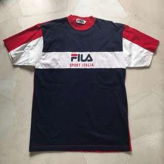 VINTAGE Fila Sport Italian Oversized Shirt Top