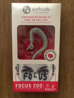 Yurbuds Focus 200 Pink/White Behind-the-Ear Sport Earphones