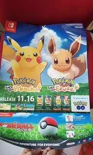 Pokemon lets go pikachu eevee POSTER