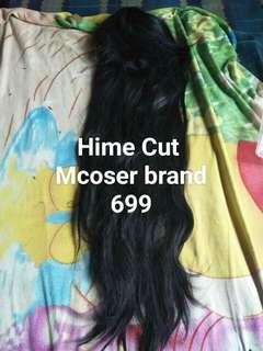 Black Hime Cut Wig