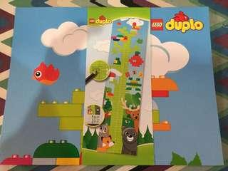 Lego Duplo Children Baby Height Measurement Cardboard