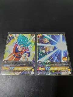 Dragonball IC Carddass BT5-069/70 Super Saiyan Blue Goku and Vegeta