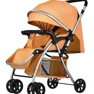 Orange Lightweight Baby Strollers