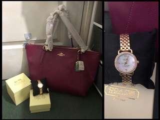 Coach watch & bag bundle sale