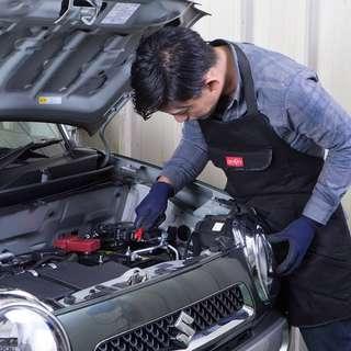 日本 汽車用維修車工作服防污服修車衣服圍裙