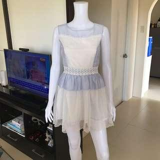 Blue lace dress S
