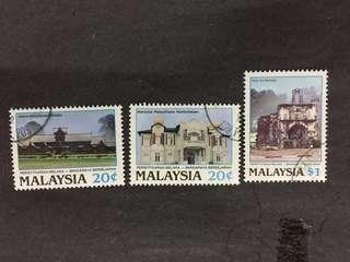 Malaysia 1989 Declaration Of Malacca As Historic City Complete Set - 3v CTO NH Original Gum Stamps #1