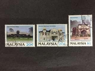 Malaysia 1989 Declaration Of Malacca As Historic City Complete Set - 3v CTO NH Original Gum Stamps