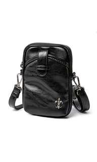 🚚 Fleur Portable Black Sling Bag