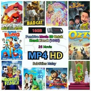 PENDRIVE MOVIE 3D  KANAK KANAK SUB MALAY (16GB) MP4 HD