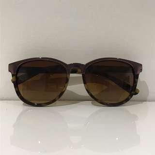 Brown Sunglasses with Metal Detail