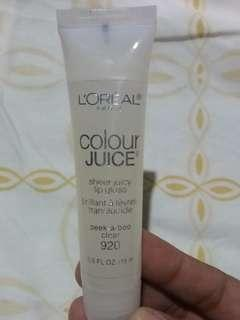 L'OREAL COLOUR JUICE SHEER JUICY LIP GLOSS