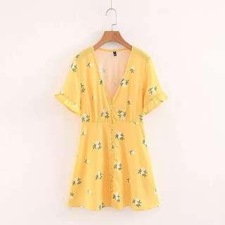 Yellow Buttoned Down Dress