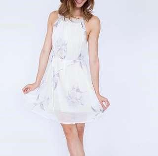 BNWOT Floral Halter Dress