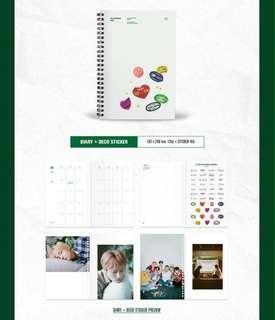 (WTB) BTS Season's Greetings Diary + Deco Sticker (Sealed).