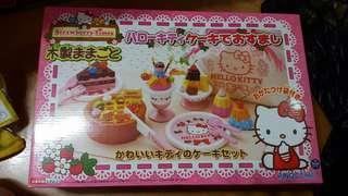 Sanrio hello kitty 木製 點心蛋糕系列 玩具 甜點系列