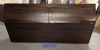【吉旺二手傢俱】零碼/庫存 胡桃色床頭箱6尺 床頭片 床台 雙層床 子母床 沙發床-各式新舊/二手家具 生活家電買賣