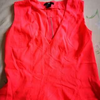 H&M Neon Pink Sleeveless Top #PRECNY60