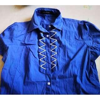 G2000 Blue Button Up Shirt #PRECNY60